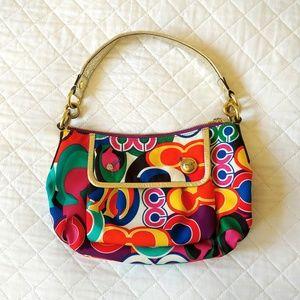 Coach Pop Groovy purse shoulder bag designer gold